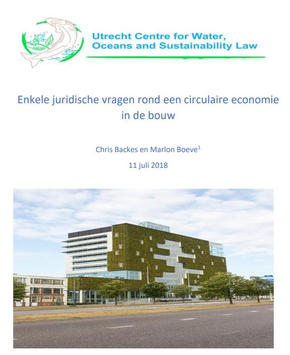 juridische vragen circulaire economie in bouw