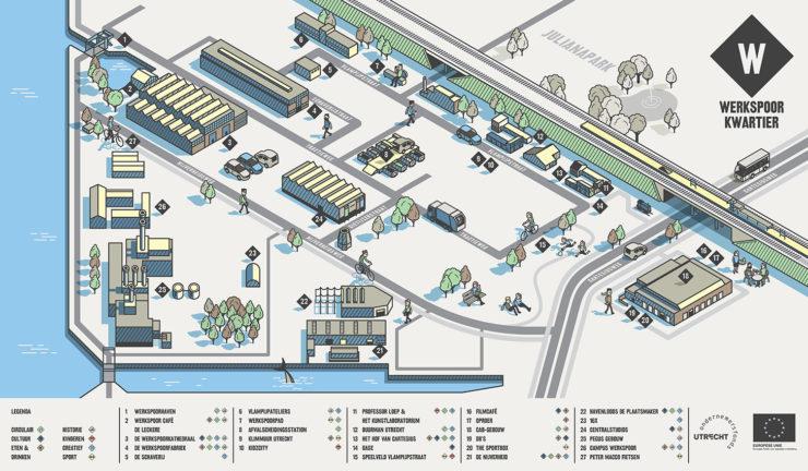 plattegrond Werkspoorkwartier Utrecht